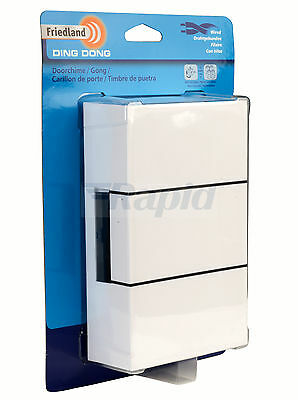 FRIEDLAND D117 Ding Dong Chime Door Bell - White 235703