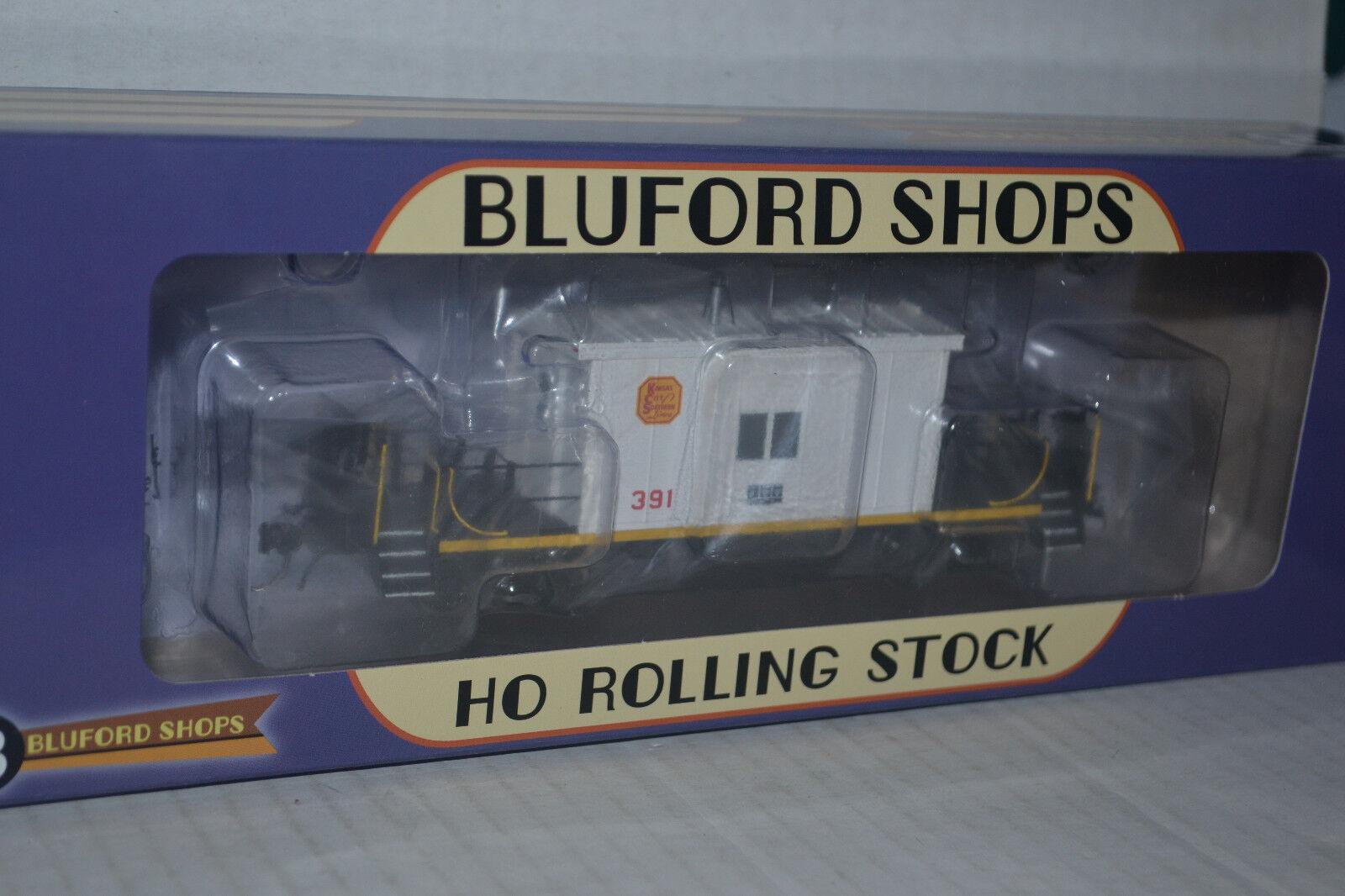 Bluford Shops 34300 Kansas City Southern KCSShort Roof Transfer Caboose Ho Scal