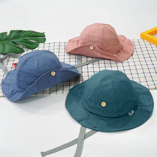 Simple Summer Baby Bucket Hat Sun Cap Boys Fisherman Beach Caps Kids Children Z