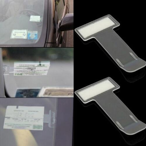 2x Car Vehicle Windscreen Park Parking Ticket Clip Work Pass Holder Gadget Trend
