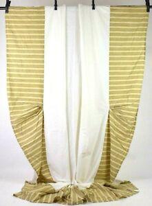 Lauren-Ralph-Lauren-Green-Striped-King-Size-Bed-Skirt-Cover-15-034-Drop-Cotton