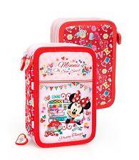 Disney Minnie Mouse Niñas triple Estuche Escuela de lujo de 44 piezas conjunto creativo