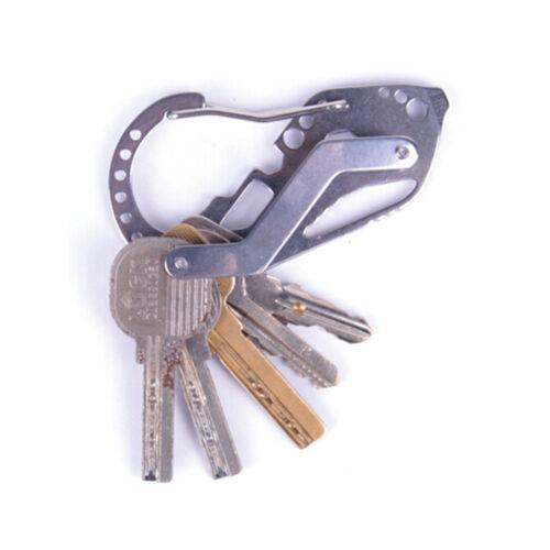 EDC inoxidable multi herramientas llavero llave QuickDraw mosquetón guardia NB