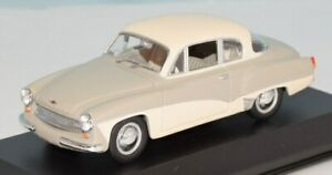 PAUL'S MODEL ART 1/43 MINICHAMPS Wartburg A 312 Coupe grey/white 015920
