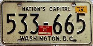 GENUINE-Washington-DC-USA-Nations-Capital-License-Licence-Number-Plate-533-665