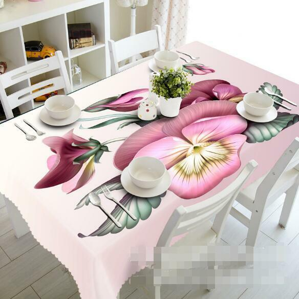 3D rose Art 54 Tablecloth Table Cover Cloth Birthday Party Event AJ WALLPAPER AU