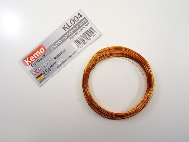 Copper Wire ca 140 m KEMO KL001 0,1mm Kupferlackdraht