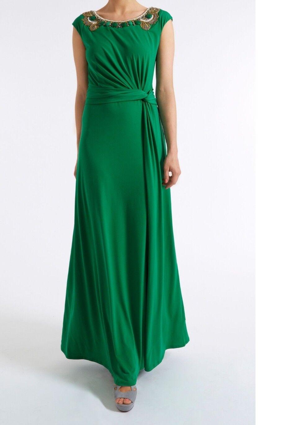 Almost famous Grün embellised maxi dress Größe 12 bnw