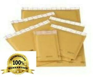 """50 #000  4"""" x 8"""" Kraft Bubble Lined Mailer Envelopes Self Seal Extra-Sturdy"""