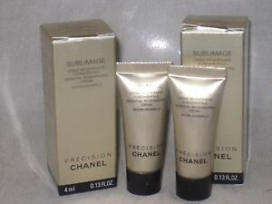 NIB-CHANEL-SUBLIMAGE-ESSENTIAL-REGENERATING-CREAM-0-13OZ-4G-x-2-pcs-TRAVEL-SIZE