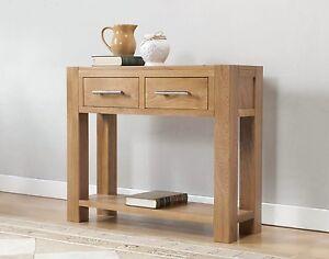 Solid-Wood-Chunky-Oak-Large-Telephone-Lamp-Hall-Console-Table-Brampton-Range