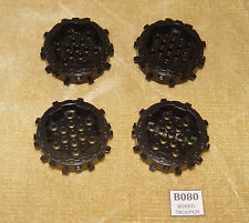 LEGO Parts: 64711 Wheel Hard Plastic with Small Cleats BLACK x4 Power Miners etc