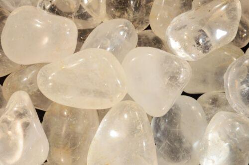"Tumbled Quartz Crystal 2/"" Natural Chakra Healing Crystal Reiki Metaphysical"