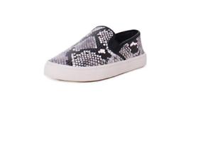 Tory Burch Max Leather Diamante Roccia Serpiente Diseño Slip On zapatilla de deporte Nuevo en Caja Multi Tamaño