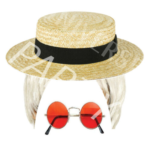 Elton John Rocket Man Fun 70/'s 80/'s Fancy Dress Costume Stag Hen Wig Set 1