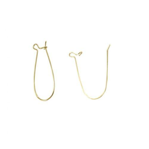 10 pièces Accessoires création attache boucles d/'oreilles crochet 16 x 9 mm