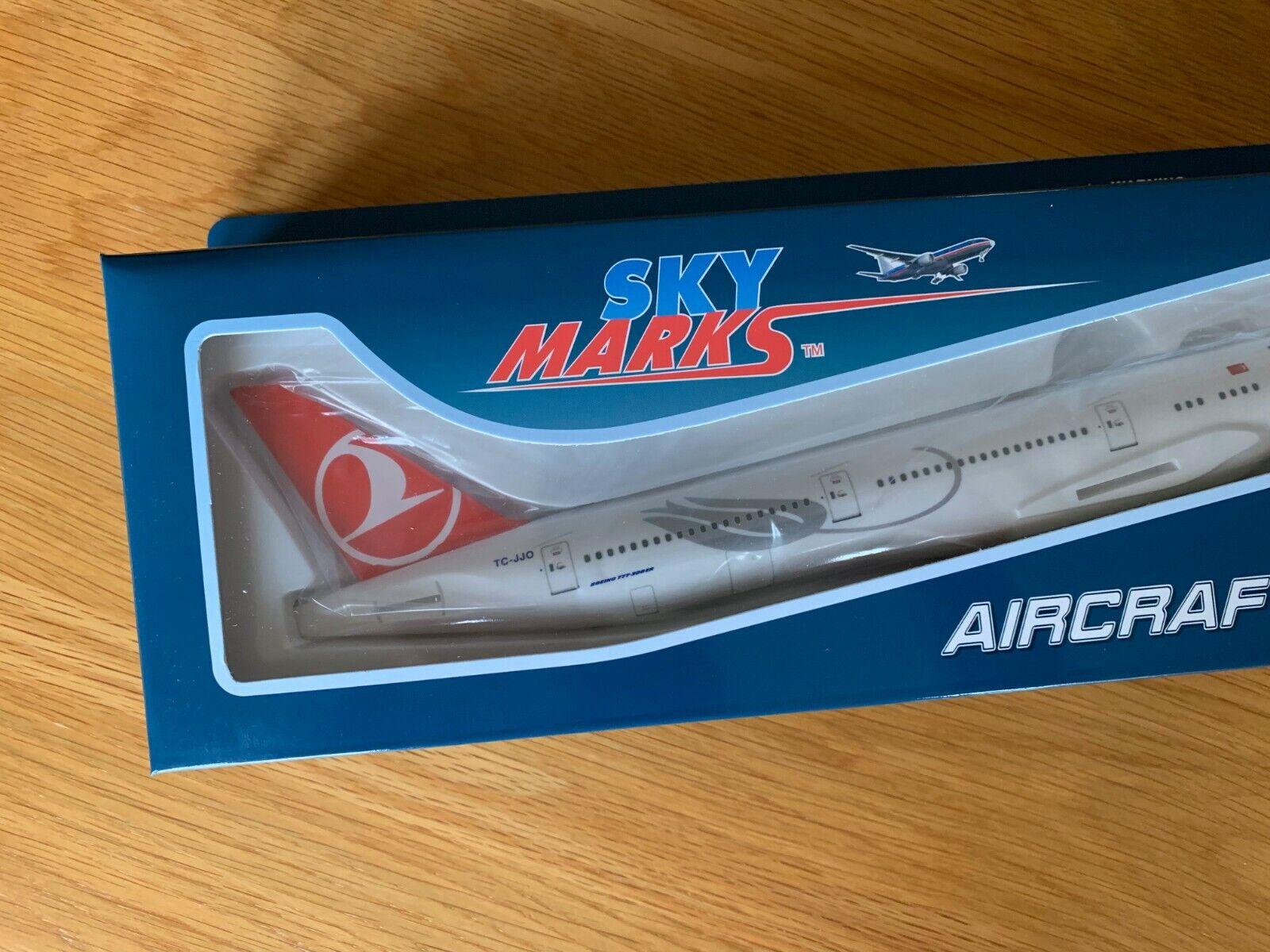 Türkisch Airlines Boeing Boeing Boeing 777-300er Groß Massiv Modell mit Fahrwerk Neu B777 b912d3