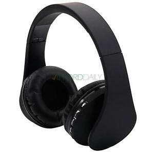 2x New Wireless Bluetooth Headset Stereo Headphone Earphone For Samsung iPhone