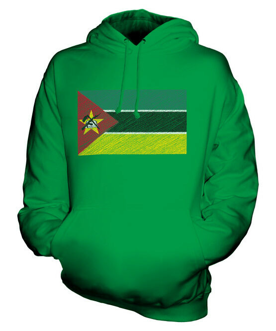 MOZAMBIQUE SCRIBBLE FLAG UNISEX HOODIE TOP GIFT MOÇAMBIQUE MOZAMBICAN    | Abrechnungspreis  f459d6