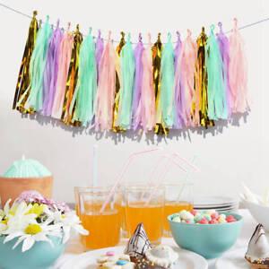 20-Tissue-Tassels-Paper-Garland-Bunting-Wedding-Birthday-Party-Balloon-Decor-DIY