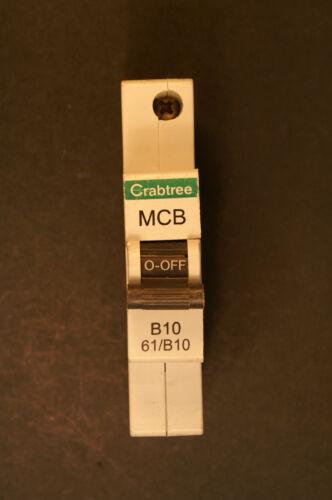 Gris Clip Crabtree Starbreaker MCB Type 61//B Disjoncteur pour BS EN 60898