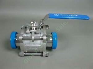 2-034-CF8M-Stainless-Steel-SS-Brewery-Sanitary-Locking-Ball-Valve-1000-Wog-w-Caps