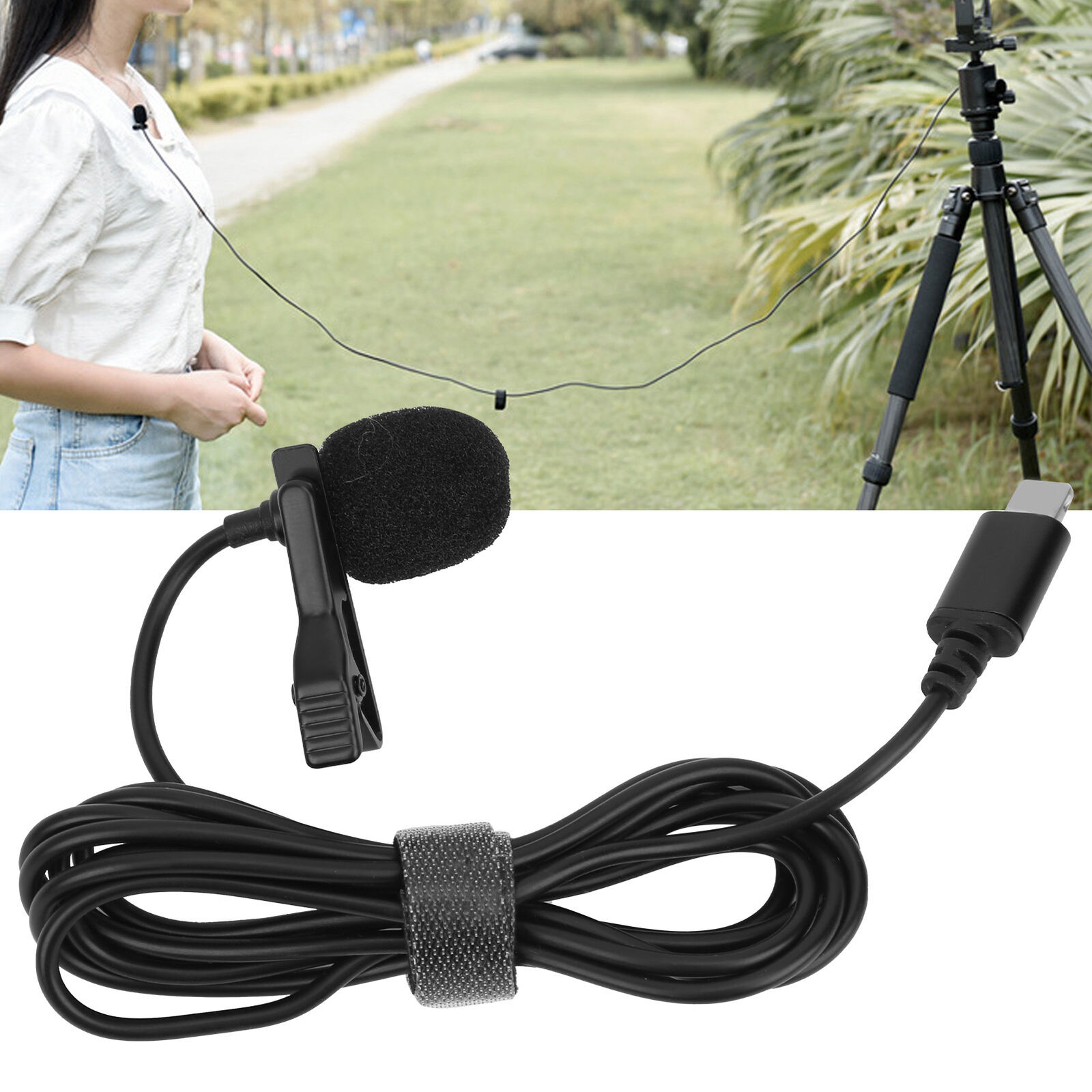 Lavalier Microphone Mic Mobile Phone Live Interview Recording for IOS Connector