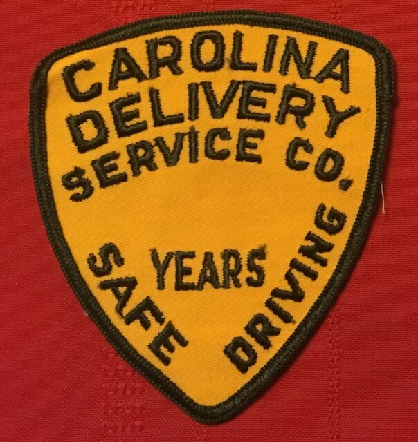 Carolina Delivery Service Co. Inc. years safe driving patch 4-1/4X3-7/8 #2388