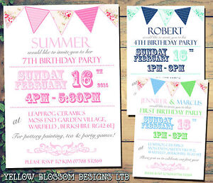 10 personalised birthday party invitations summer bbq garden party