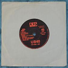 "UB40 – So Here I Am 7""– 7DEP5 – VG+   BUY 2+ for 25% OFF"