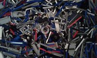 Lego Technic 1000 + Genuine Mixed Spare Part's Job Lot