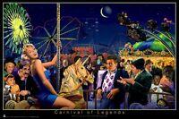 George Bungarda Carnival Of Legends 24x36 Poster Marilyn Monroe James Dean