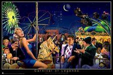 GEORGE BUNGARDA ~ CARNIVAL OF LEGENDS 24x36 POSTER Marilyn Monroe James Dean