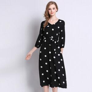 timeless design a687f a5f6a Dettagli su Elegante vestito abito nero bianco slim manica scampanato  morbido 4946