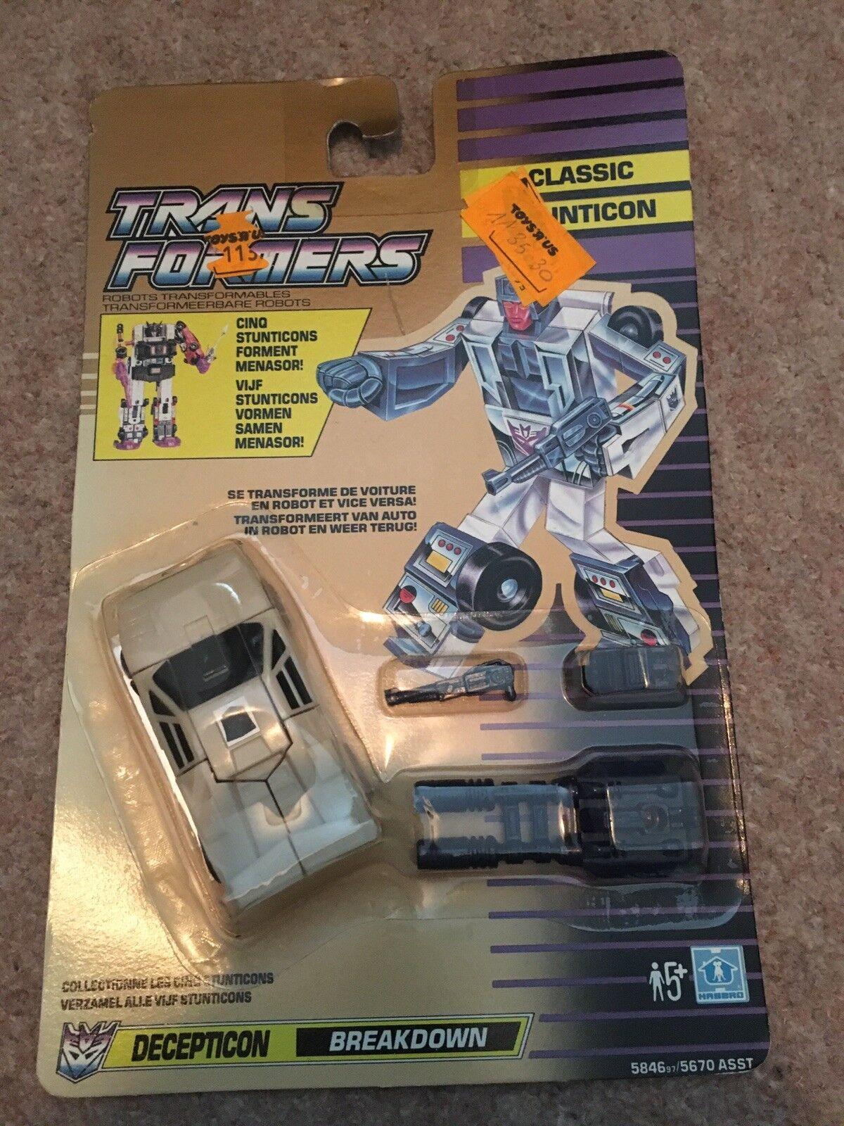 Transformers Classic Breakdown Decepticon Retro Figure 1991 French Dutch