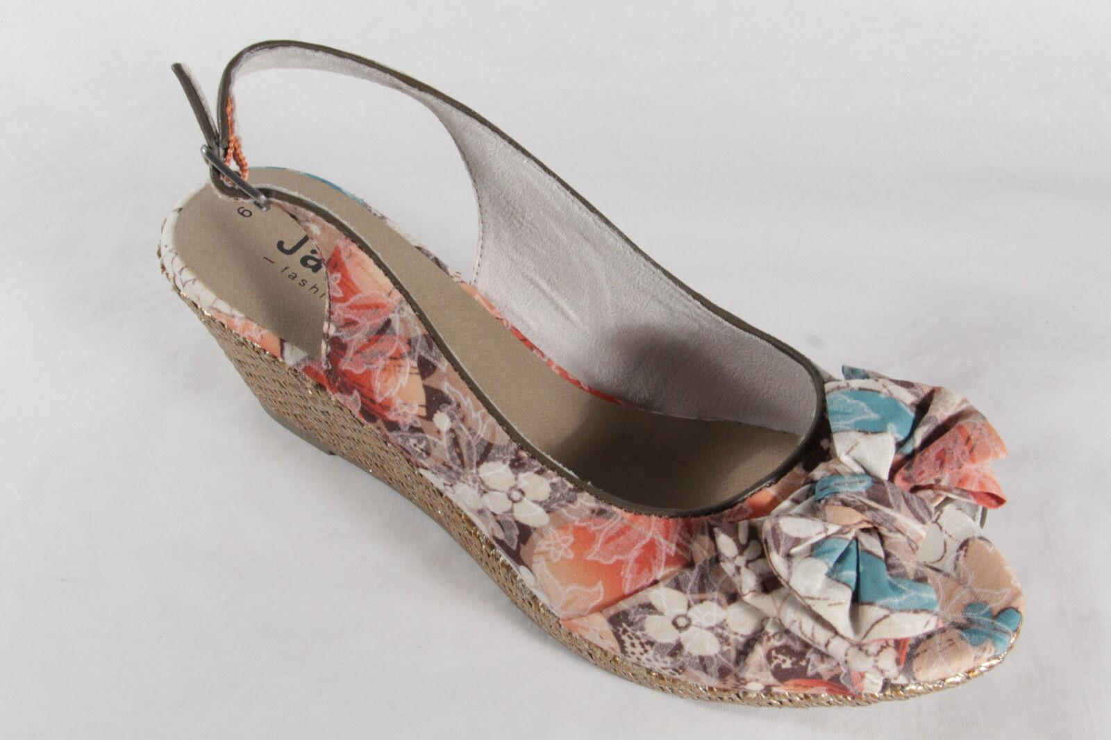 Jana Sandalias de Dama Multicolor, Suave Suela Interior, Suela de Goma Nuevo