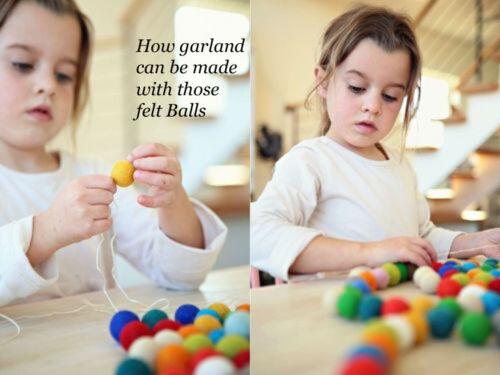 Choose colors 2100 Pom Pom Felt Balls Jewelry making Beads Nursery Craft Supply