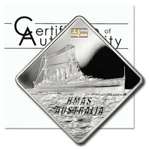 Palau-Battleship-HMAS-Australia-10-2011-2-oz-Proof-Silver-Crown-COA