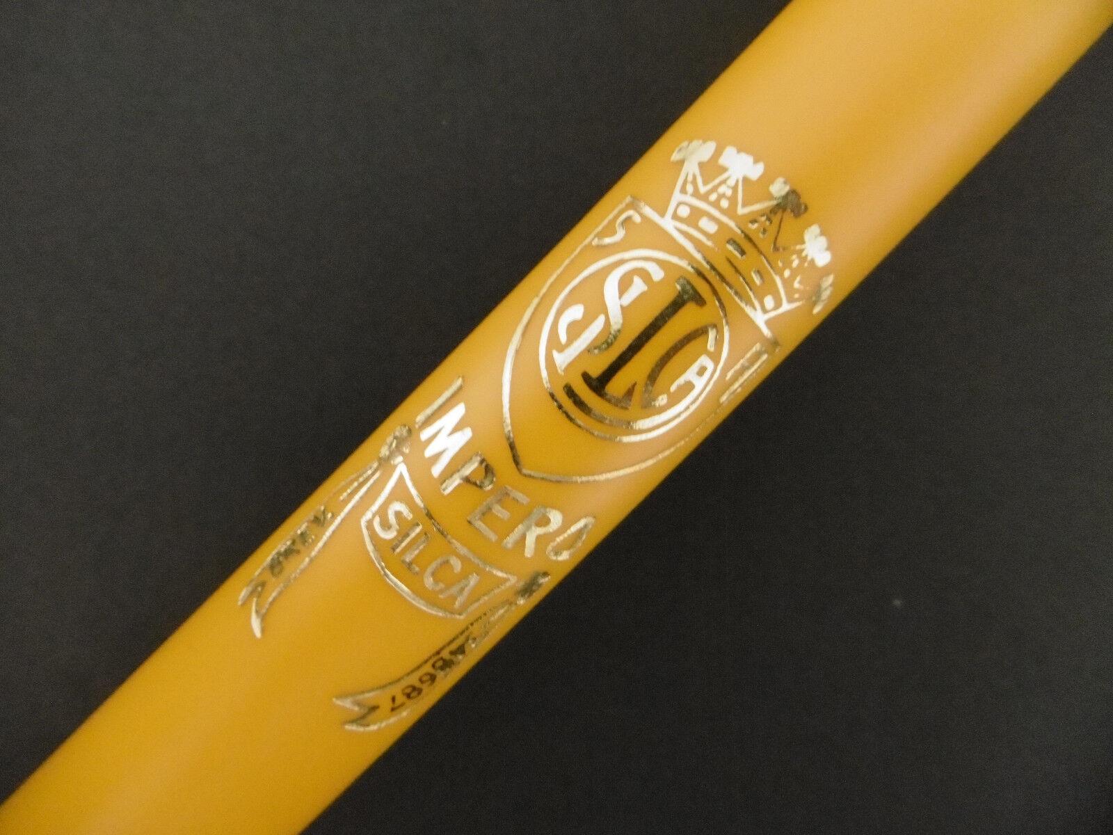 Pump Silca Impero Brevettato road bicycle bike yellow new presta dunlop 500mm