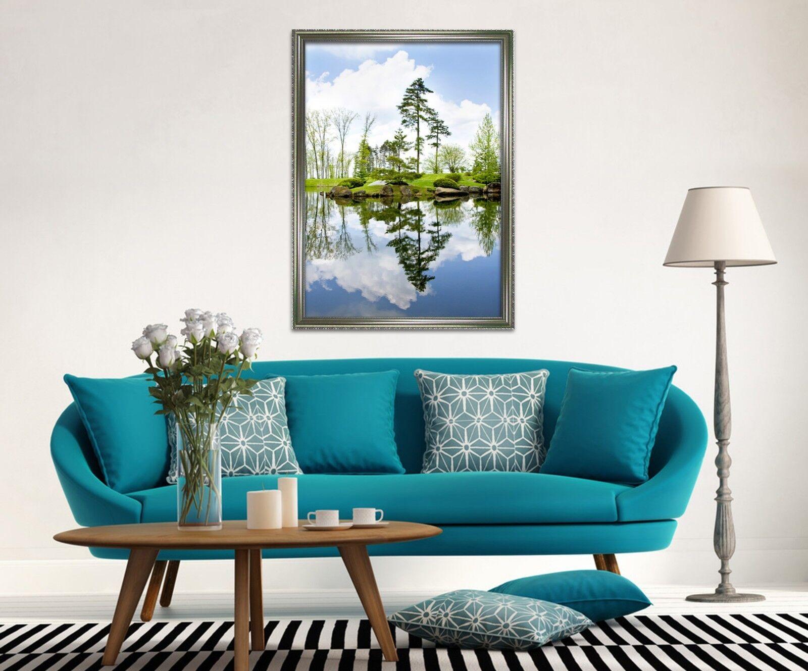 3D Small Tree River 69 Framed Poster Home Decor Drucken Painting Kunst AJ UK