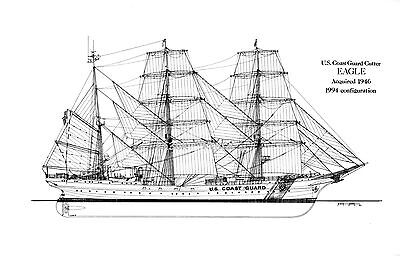 USCGC NORTHLAND 13 x 19 MATTE B/&W Line Drawing Print