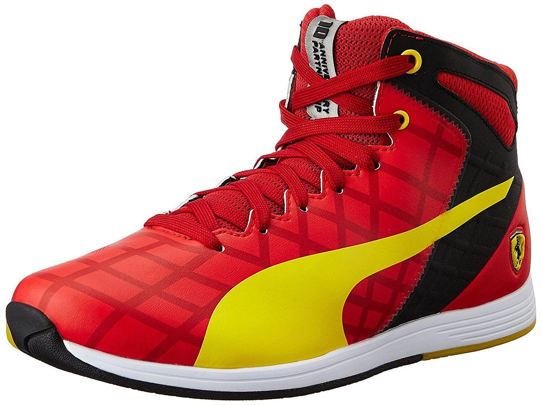 Nuevo zapatos puma evo Speed 1.4 SF mid 10 cortos ocio cuero Ferrari