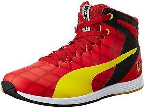 Nuevo-Zapatos-PUMA-EVO-SPEED-1-4-SF-Medio-10-Zapatillas-Ocio-Cuero-Ferrari