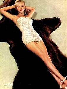 Anne-Francis-1952-Vintage-Pinup-Litho-Frank-Powolny-Photo-Publicity-Promo-COA