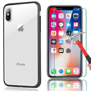 For-iPhone-X-8-7-6s-6-iPhoneX-Slim-Transparen-Clear-Shockproof-Bumper-Case-Cover