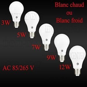 Ampoule-Led-E27-100W-12w-75W-9w-60W-7w-45W-5w-30W-3w-Blanc-Chaud-ou-Froid-230-V