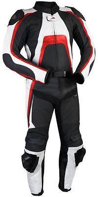 Sydney Motorcycle Leather Suit - Men Racing Motorbike Leather Jacket Trouser