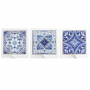 Image Is Loading Moroccan Design Blue Amp White Ceramic Tile