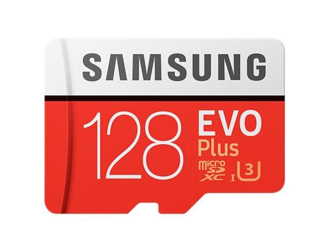 Samsung 128GB EVO plus 100MB/s MicroSD SDXC UHS-I Class 10 Memory Card Adp WG2
