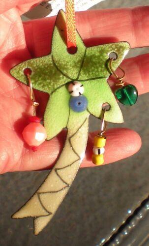 Enamel on Copper Angelito Handmade Holiday Ornament
